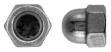 Hutmutter DIN 986 M6 Stahl galv verzinkt selbstsichernd