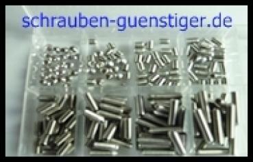 M5 Gewindestifte Set 150 Teile DIN 914 Innensechskant+Spitze A2