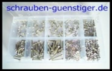 30 Edelstahl Innensechskant Schrauben Din 912 Set M1,6  V2A Sortiment