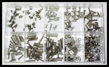 Sortiment-Senkkopfschrauben DIN 965 TORX M2,5 Edelstahl A2 500 Teile