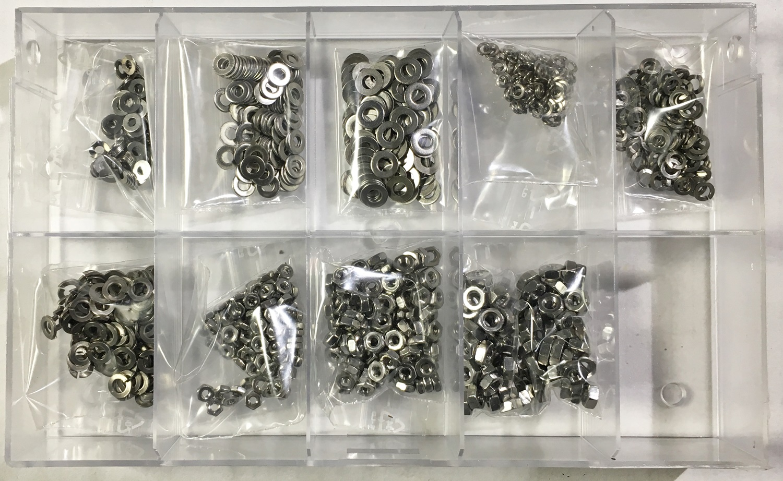 Sortiment Kit M2 M2,5 M3//M4//M5 M6 M8 Schraube//Bolzen 250X Nylon Unterlegscheibe