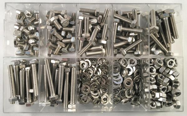 Linsenschrauben mit Innensechskant ISO 7380 M5  Edelstahl 420 Teile Sortiment
