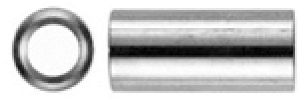 Verbindungs-Muffen Langmuttern Schildhalter Verbindungsmuttern Gewindemuffen M12 X 30 rund Edelstahl A2 Abstandshalter   Rundmuffen M12x30 Distanzmuffen Distanzmuttern VPE = 2 St/ück
